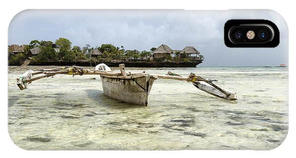 Fishing Boat In Zanzibar Phone Case by Pier Giorgio Mariani