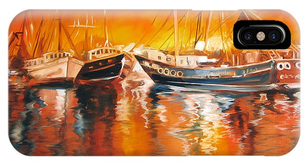 Fishing Boats At Dusk IPhone Case