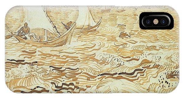 Van Gogh Museum iPhone Case - Fishing Boats At Saintes Maries De La Mer by Vincent van Gogh