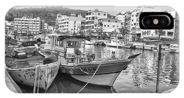 Fishing Boats B W IPhone Case