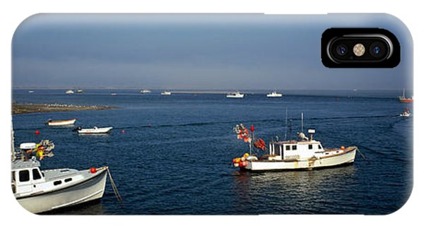 Cape Cod iPhone Case - Fishing Boats In An Ocean, Cape Cod by Panoramic Images
