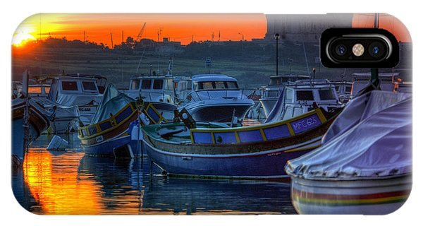 Fishing Boats In Birzebuggia Harbour IPhone Case