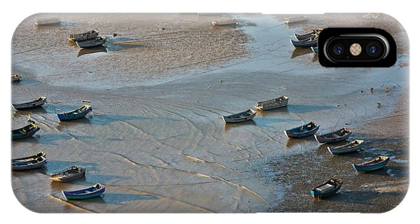 Fishing Boats On The Muddy Beach, East IPhone Case