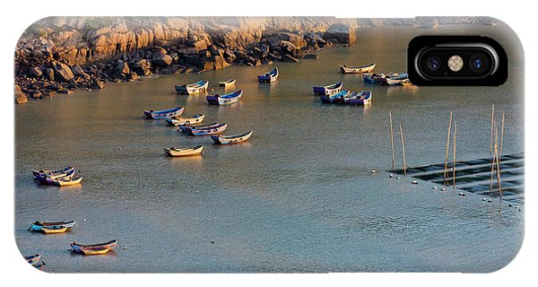 Fishing Boats On The Muddy Beach IPhone Case