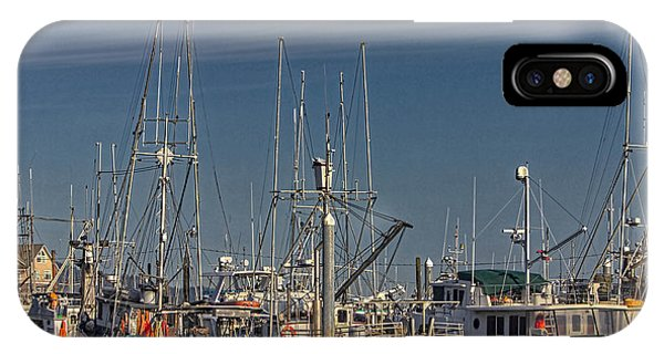 Fishing Boats With Eagle IPhone Case