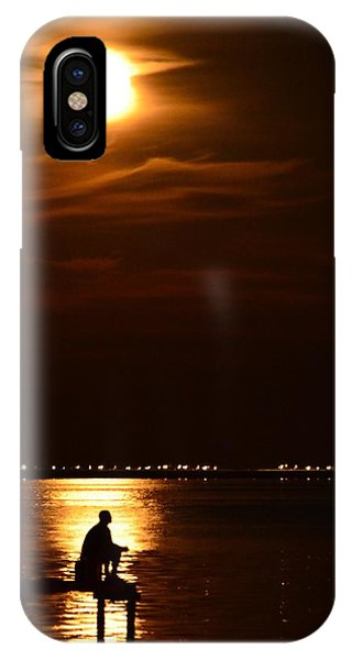 Fishing By Moonlight01 IPhone Case