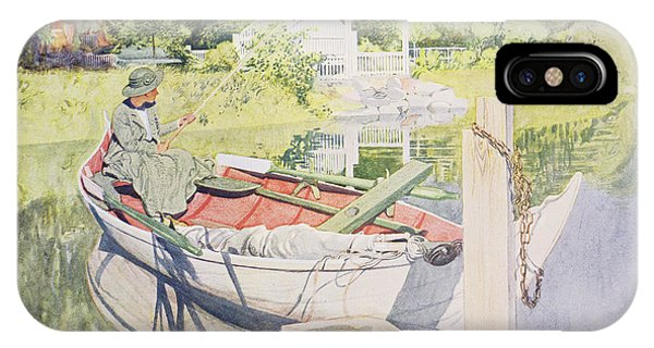 Reel iPhone Case - Fishing by Carl Larsson