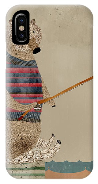 Brown iPhone Case - Fishing For Supper by Bri Buckley