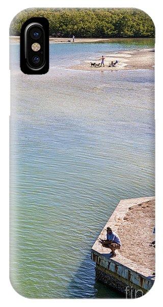Fishing In Estero Bay Near Fort Myers Beach Florida Phone Case by William Kuta