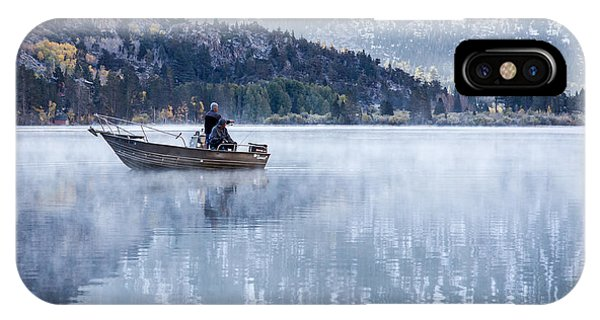 IPhone Case featuring the photograph Fishing Into Silver by Priya Ghose