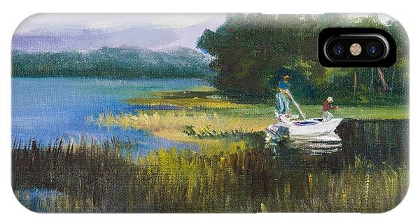 Fishing Phone Case by Jane Woodward