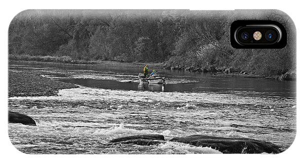 iPhone Case - Fishing On The American River by Anthony Forster