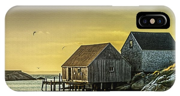 Fishing Shacks At Sunset IPhone Case