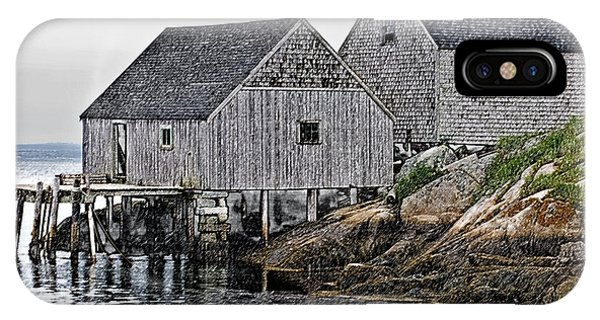 Fishing Sheds At Peggy's Cove IPhone Case