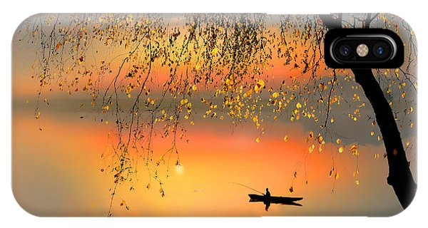 Fishing Sunset Phone Case by Igor Zenin