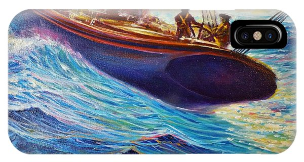 Fishing The Grand Banks IPhone Case