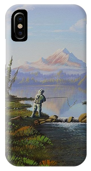 Fishing The High Lakes IPhone Case