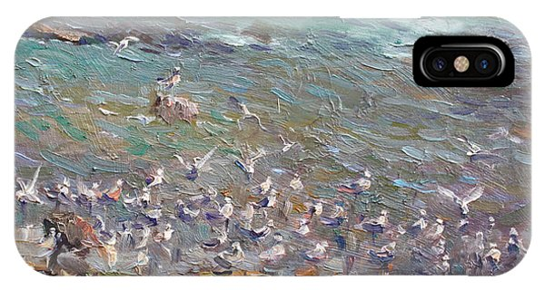 Seagull iPhone Case - Fishing Time by Ylli Haruni