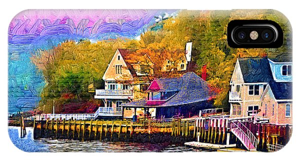 Fishing Village IPhone Case