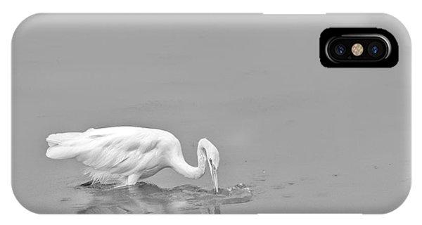 Fishing White Egret IPhone Case