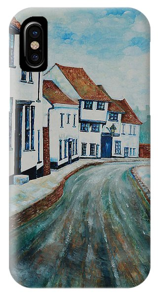 Fishpool Street - St Albans - Winter Scene IPhone Case