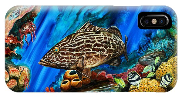 IPhone Case featuring the painting Fishtank by Steve Ozment