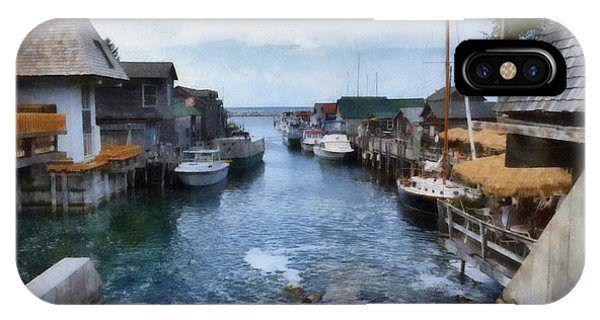Fishtown Leland Michigan IPhone Case