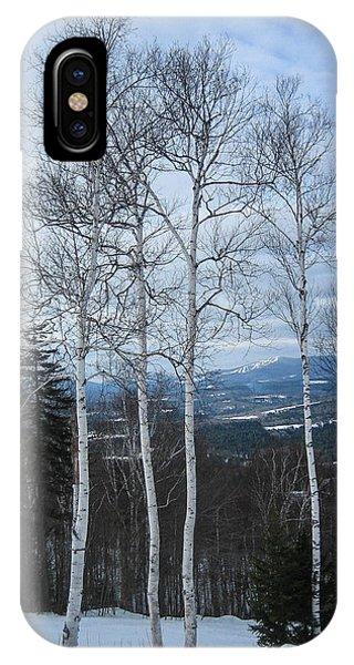 Five Birch Trees IPhone Case