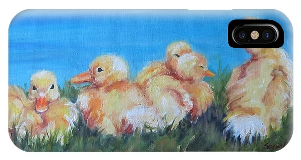 Five Ducklings IPhone Case
