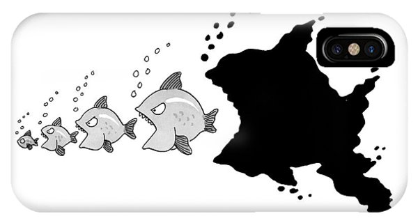 Five Fish, Lined Up In Ascending Size Order, Each IPhone Case