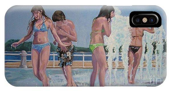 Five Fountain Friends IPhone Case