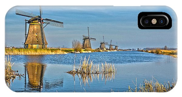 Five Windmills At Kinderdijk IPhone Case