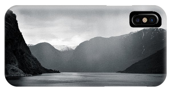Fjord Rain IPhone Case