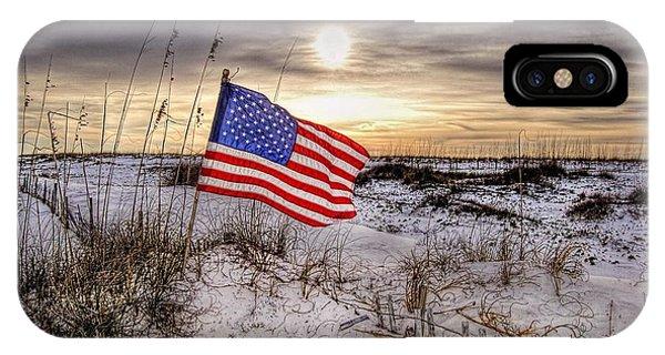 Flag On The Beach IPhone Case