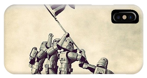 Patriotic iPhone Case - Flag Raising On Iwo Jima - Star Wars by Tony Leone