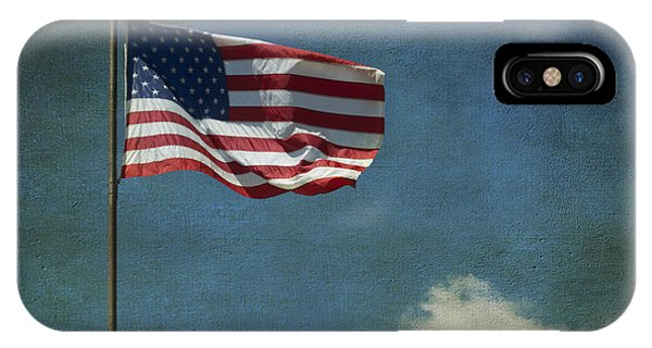 Flag - Still Standing Proud - Luther Fine Art IPhone Case