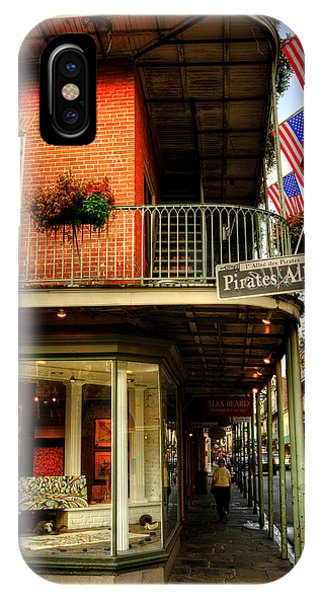 Flags And Street Lamp On Pirates Alley IPhone Case