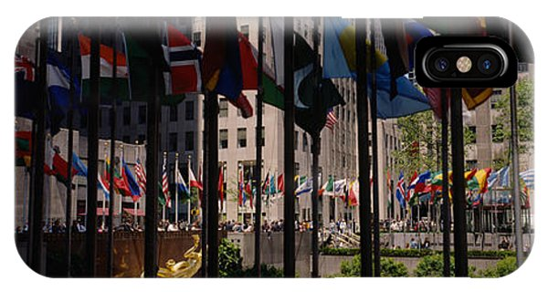 Flags In A Row, Rockefeller Plaza IPhone Case
