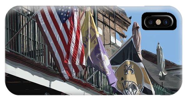 Flags On Bourbon Street IPhone Case