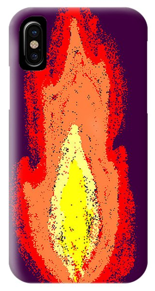 Flame Phone Case by Meenal C