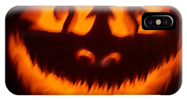 Flame Pumpkin IPhone Case