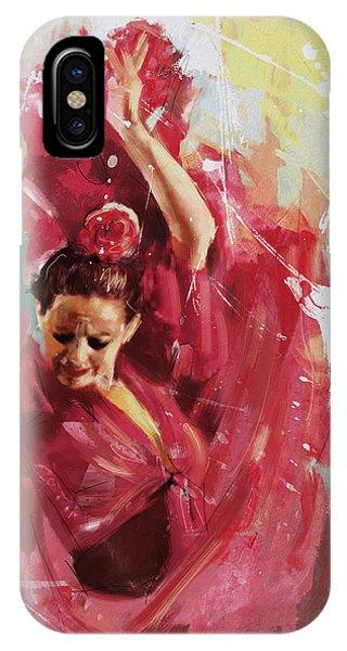 Tango iPhone Case - Flamenco 34 by Maryam Mughal