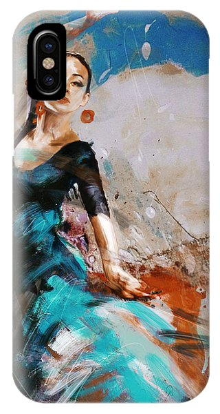 Dance iPhone Case - Flamenco 42 by Maryam Mughal
