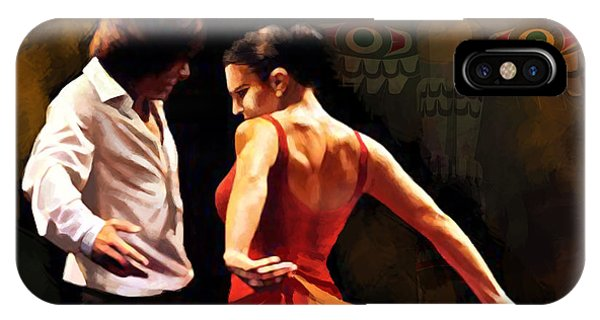 Tango iPhone Case - Flamenco Dancer 012 by Catf