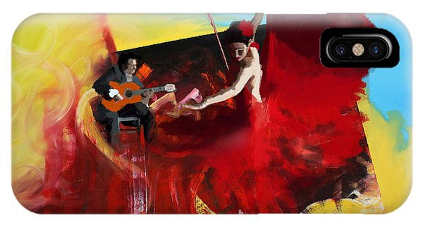 Tango iPhone Case - Flamenco Dancer 016 by Catf