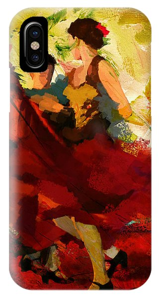 Flamenco Dancer 019 IPhone Case