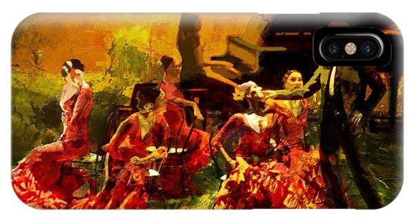Culture Club iPhone Case - Flamenco Dancer 020 by Catf