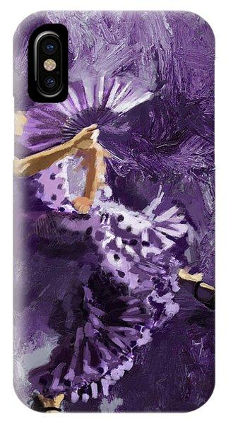 Tango iPhone Case - Flamenco Dancer 023 by Catf