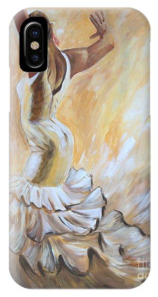 Flamenco Dancer In White Dress IPhone Case