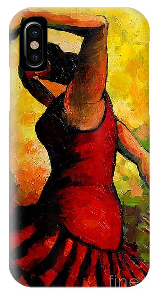 Spin iPhone Case - Flamenco by Mona Edulesco